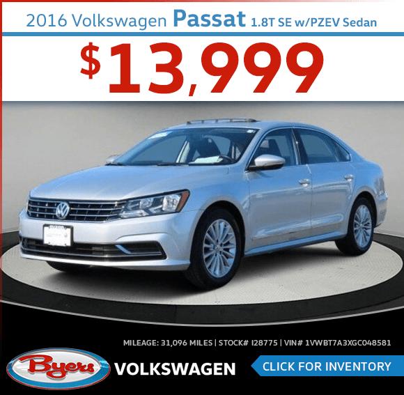 Pre-Owned 2016 Volkswagen Passat 1.8T SE w/PZEV Sedan special in Columbus, OH