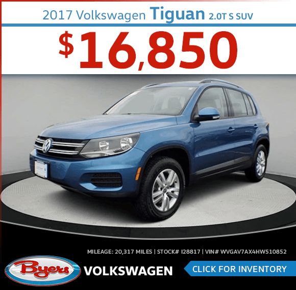 Pre-Owned 2017 Volkswagen Tiguan 2.0T S SUV special in Columbus, OH