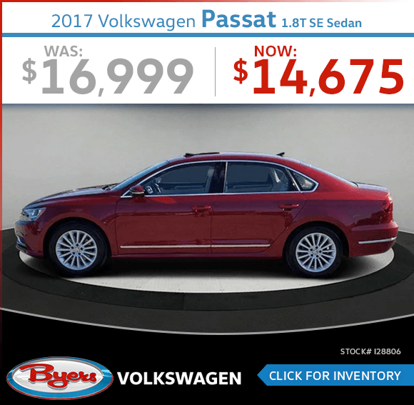 Save on this Pre-Owned 2017 Volkswagen Passat 1.8T SE Sedan special in Columbus, OH