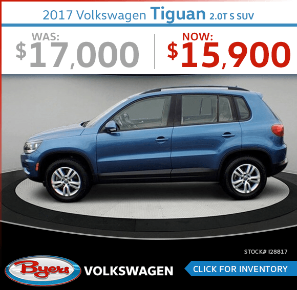Save on this Pre-Owned 2017 Volkswagen Tiguan 2.0T S SUV special in Columbus, OH