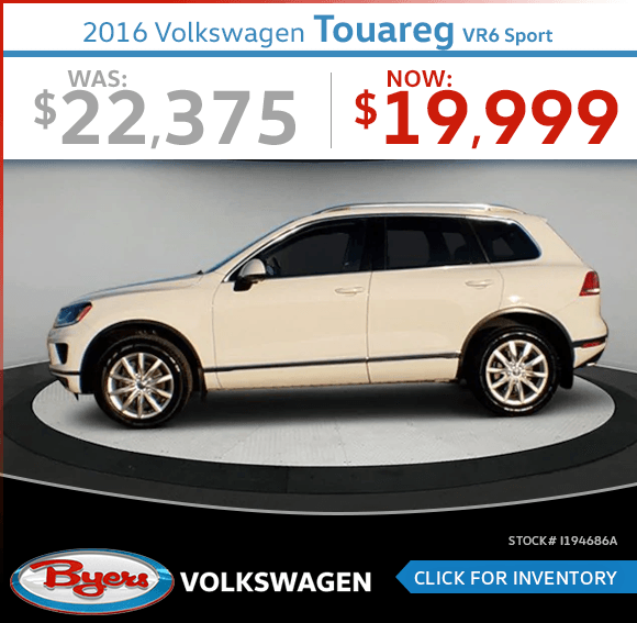 2016 WV Touareg VR6 Sport Pre-Owned Special in Columbus, OH