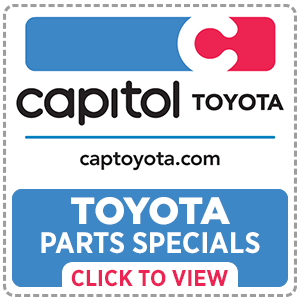 Save on OEM parts and accessories with coupons from Capitol Toyota in Salem, OR