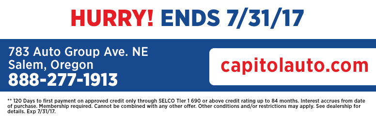 Get Freedom From Car Payments for 120 Days at Capitol Auto Group in Salem, OR
