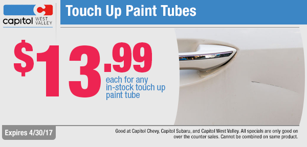 Capitol Chevy West Valley Paint Tube Parts Special