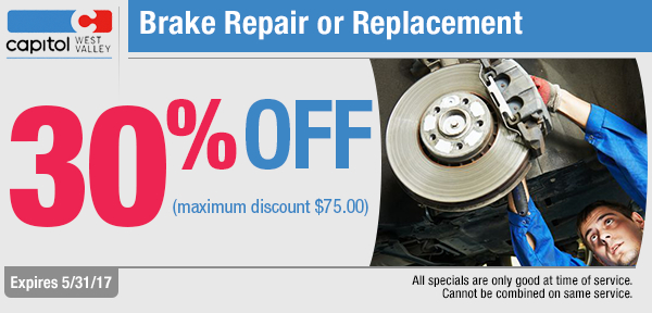 Save with our Brake repair of replacement service special in Dallas, OR