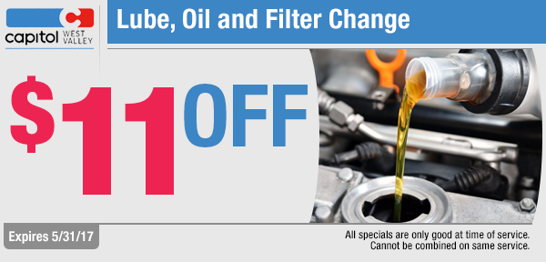 Save with our Lube Oil and Filter change service special in Dallas, OR