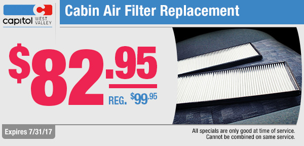 Cabin Air Filter Replacement Service Special in Dallas, OR