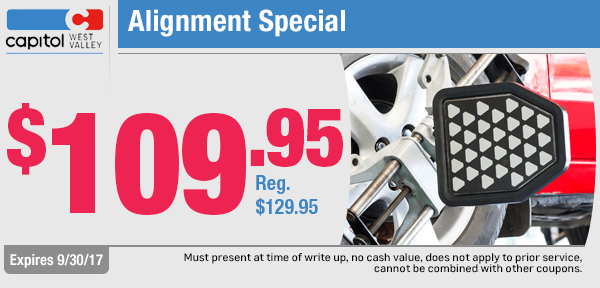 Chevrolet Wheel Alignment Special at Capitol West Valley