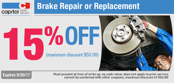 Brake Repair or Replacement at Capitol Chevrolet West Valley