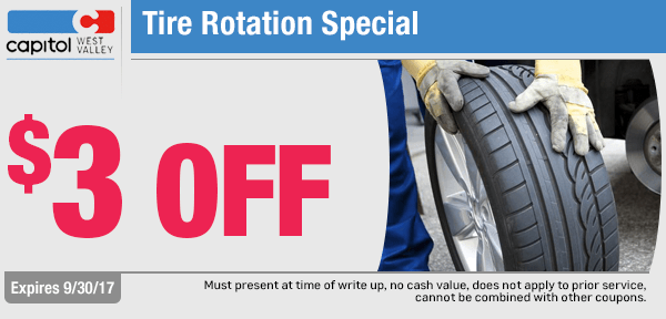 Chevrolet Tire Rotation Special at Capitol West Valley