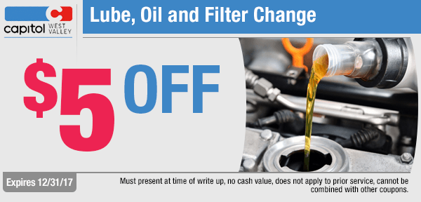 Save on a Lube, Oil and Filter change service from our service department at Capitol West Valley in Dallas, OR