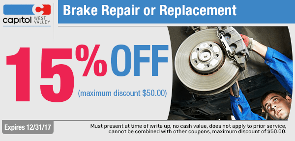 Get Special Brake Repair or Replacement savings from our service department at Capitol West Valley in Dallas, OR
