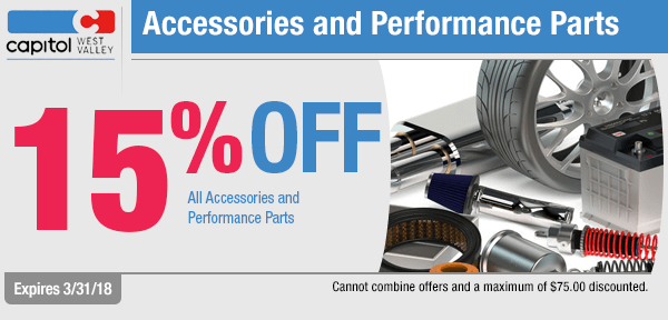 Save on accessories and performance parts from our parts department at Capitol West Valley in Dallas, OR