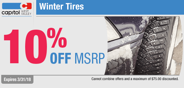 Get end of winter tire savings from our parts department at Capitol West Valley in Dallas, OR