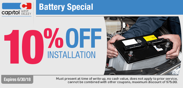 Save with our battery service special from our service department at Capitol West Valley in Dallas, OR