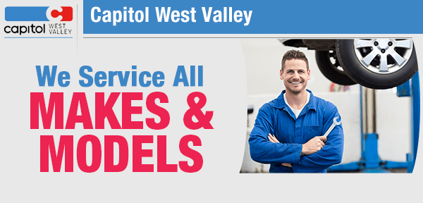 We Service ALL Makes and Models  in our service department at Capitol West Valley in Dallas, OR