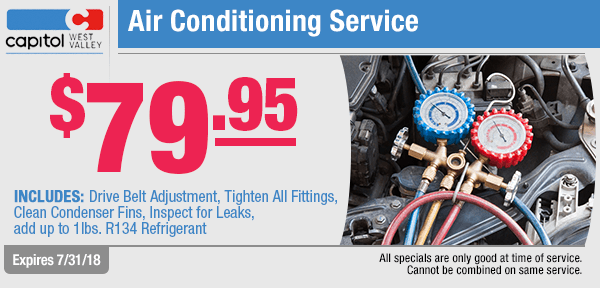 Save on an Air Conditioning Service from our service department at Capitol West Valley in Dallas, OR