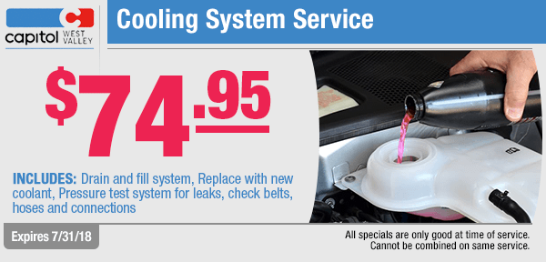 Save with our cooling system service special from our service department at Capitol West Valley in Dallas, OR