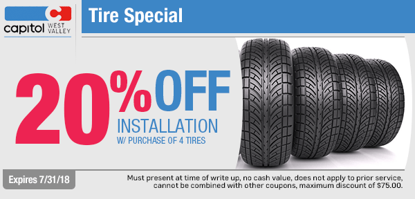 Save with our tire installation service from our service department at Capitol West Valley in Dallas, OR