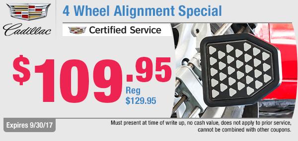 Cadillac Wheel Alignment Special at Capitol Cadillac