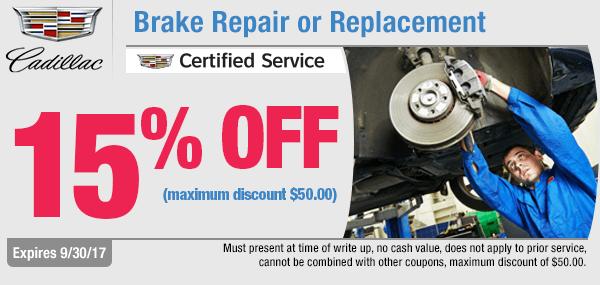 Brake Repair or Replacement at Capitol Cadillac