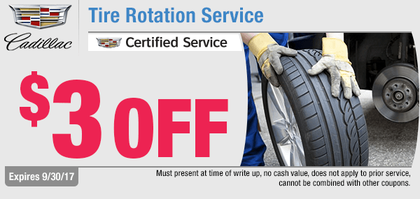 Capitol Cadillac Tire Rotation Service Special