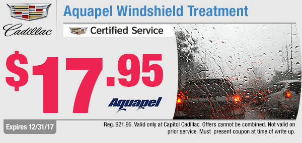 Save on a Aquapel Windshield Treatment service at Capitol Cadillac in Salem, OR