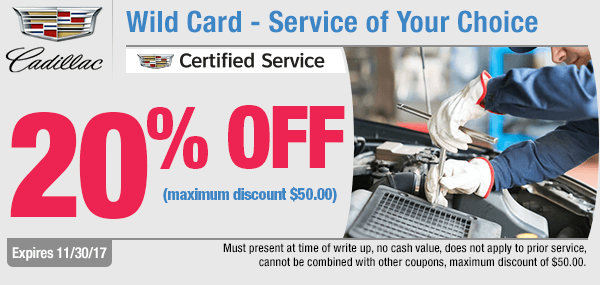Save on your service of choice with our Wild Card Special at Capitol Cadillac in Salem, OR