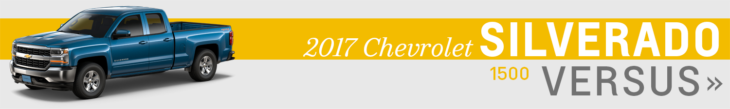 Click the models below to compare the 2017 Chevrolet Silverado 1500 to the competition