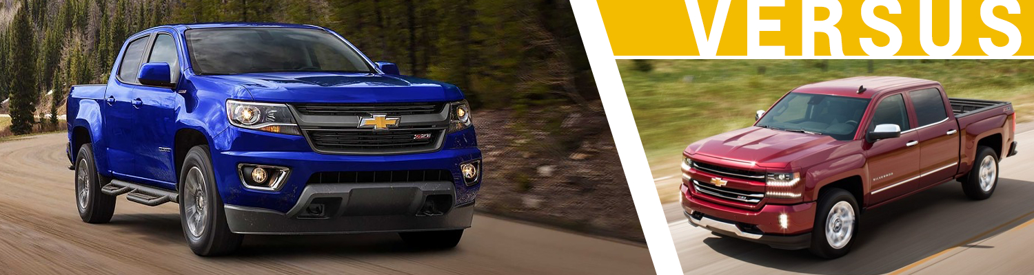 Compare The New 2017 Chevrolet Colorado Vs Silverado 1500