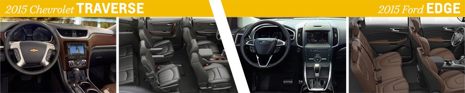 Chevrolet Traverse Vs  Ford Edge Model Interior Comparison