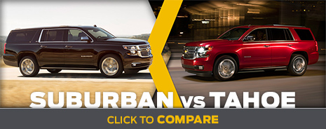 Click To Compare The 2014 Chevrolet Suburban & Tahoe Models Salem, OR