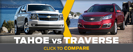Click To Compare The 2015 Chevrolet Tahoe  & Traverse Models Salem, OR