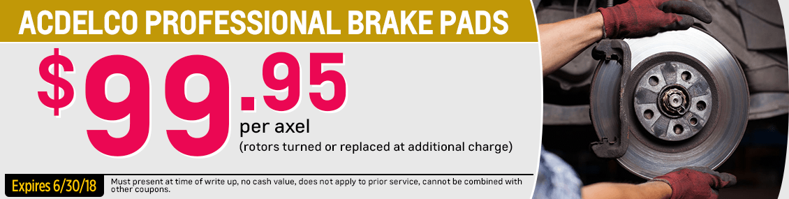 Save on our Brake Pads service special at Capitol Chevy in Salem Near Keizer, OR