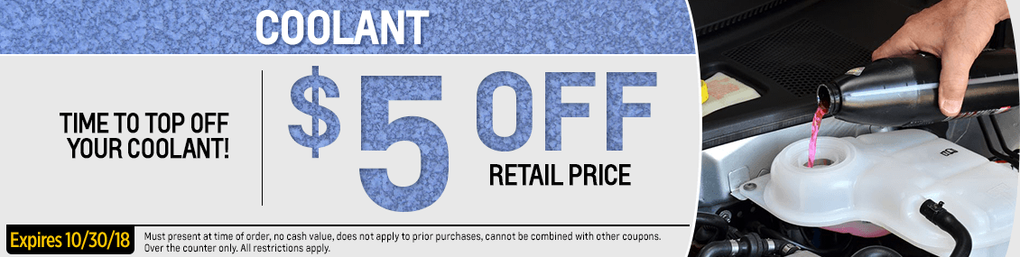 Save with this month's Engine Coolant parts special from our parts department at Capitol West Valley in Dallas, OR