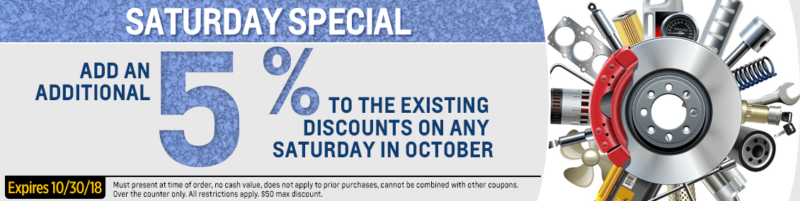 Save with our Saturday Only parts special from our parts department at Capitol West Valley in Dallas, OR