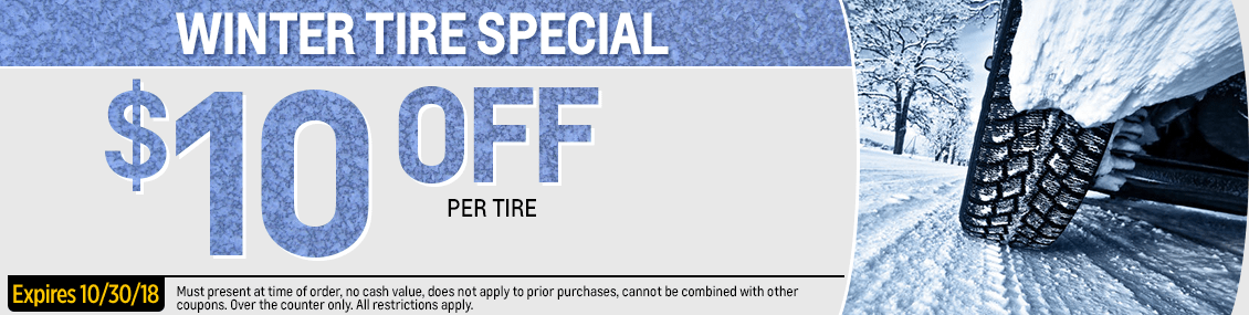 Save with this month's Winter Tires parts special from our parts department at Capitol West Valley in Dallas, OR