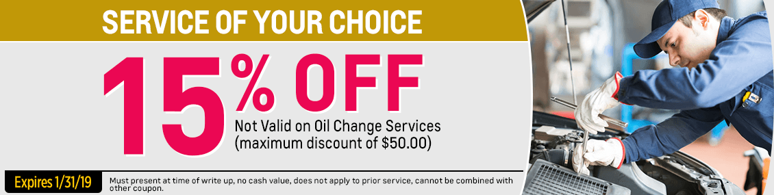 Save on your next service with this month's15% special service savings  from our service department at Capitol West Valley in Dallas, OR