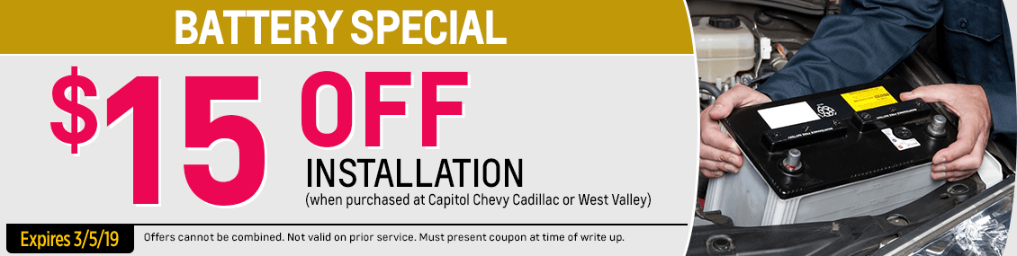 Genuine Chevrolet Battery Replacement Service Special at Capitol Chevrolet in Salem Near Keizer, OR
