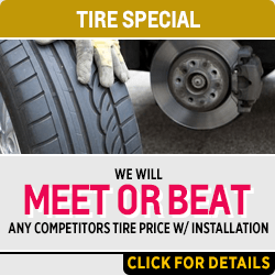 Tire service special at Capitol Chevrolet in Salem, OR