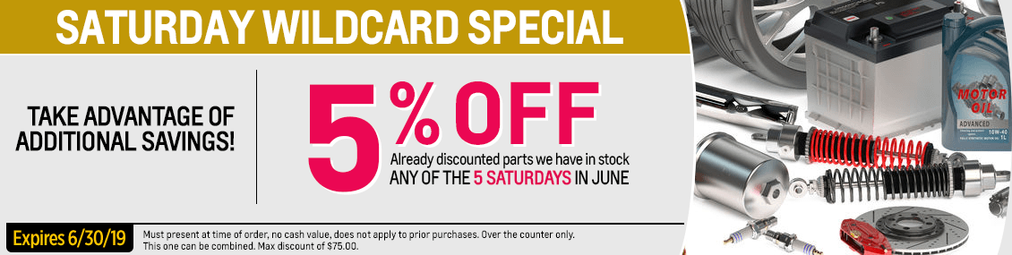 Saturday Wildcard Parts Special at Capitol Chevy in Salem Near Keizer, OR