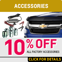 Get a discount on any factory accessory this month at Capitol Chevrolet in Salem, OR