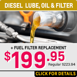 Save on Your Next Diesel Lube, Oil and Filter Change with Fuel Filter at Capitol Chevrolet in Salem Near Keizer, OR