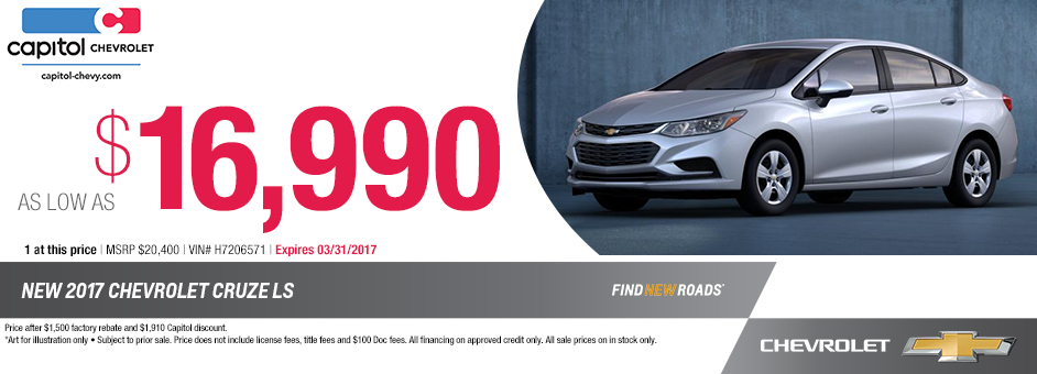 2017 Chevrolet Cruze LS Purchase Special in Salem, OR