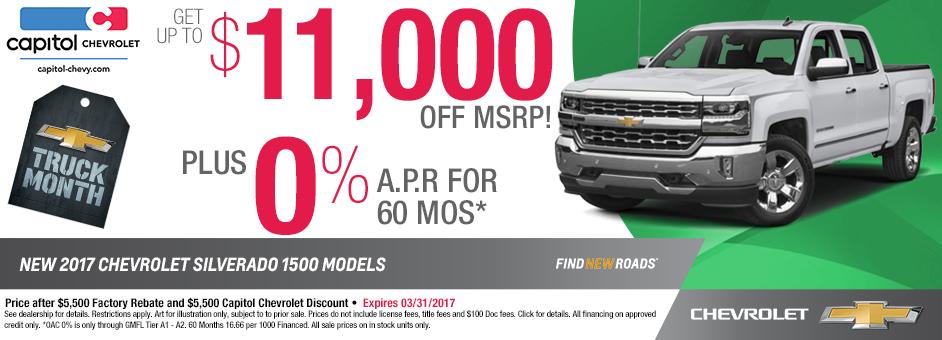 2017 Chevrolet Silverado Purchase Special in Salem, OR