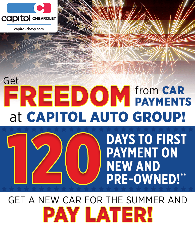 120 Days Vacation from New and Pre-Owned Vehicle Payments at Capitol Chevrolet in Salem