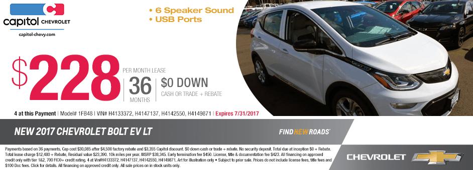 New 2017 Chevrolet Bolt LT Special Purchase Offer in Salem, Oregon