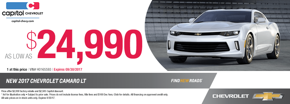 2017 Chevrolet Camaro Purchase Special in Salem, OR