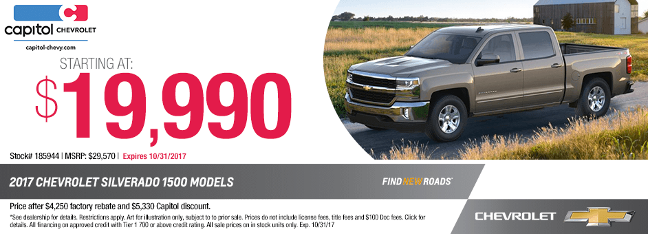New 2017 Chevrolet Silverado 1500 Crew Cab Special Purchase Offer in Salem, Oregon