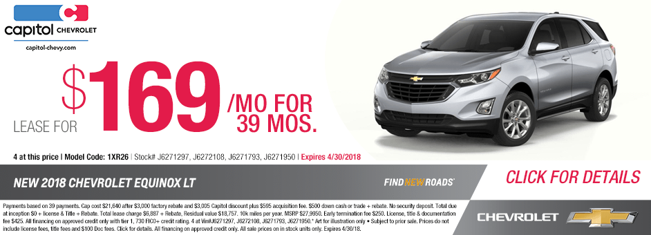 Click to View Our New 2018 Chevrolet Equinox Special Lease Offer in Salem, Oregon